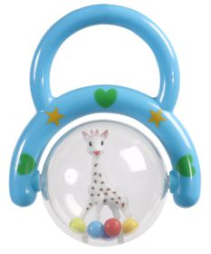 Sophie La Giraffe - Rattle with Handle - Blue