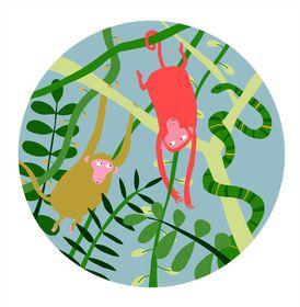 Petit Jour Paris - Jungle Monkeys Plate