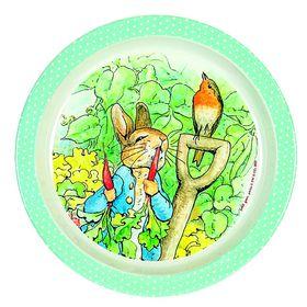 Petit Jour Paris - Peter Rabbit Green Dots Plate