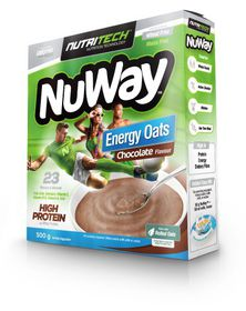 Nutritech Nutritech Nuway Single Unit: Energy Oats: High Protein Chocolate Smooth 500g