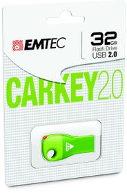 Emtec D300 USB 2.0 Car Key 32GB - Green