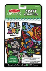 Melissa & Doug Foil Art Animals Craft & Create