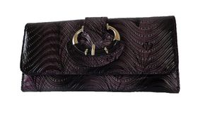 Fino Floral Wave Engraved Purse - Purple (G195765)