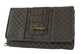 Fino Check & Croc Purse - Grey (1004093)