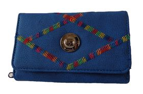 Fino Rainbow Striped Purse - Blue (1027093)