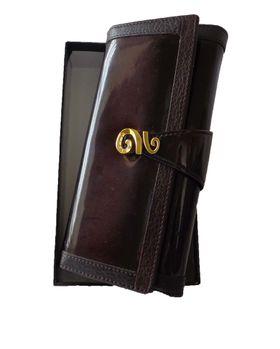 Fino feather print purse with genuine leather interior - Purple (Skdk608)