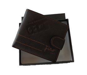 Fino Laser In scripted Hip Leather Wallet - Brown (Hl1333)