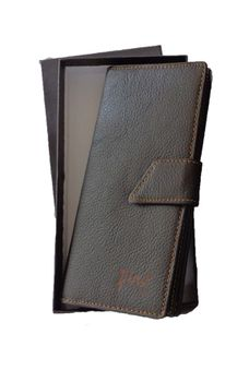 Fino long genuine leather Unisex Travel Wallet HL-P1407 - Brown