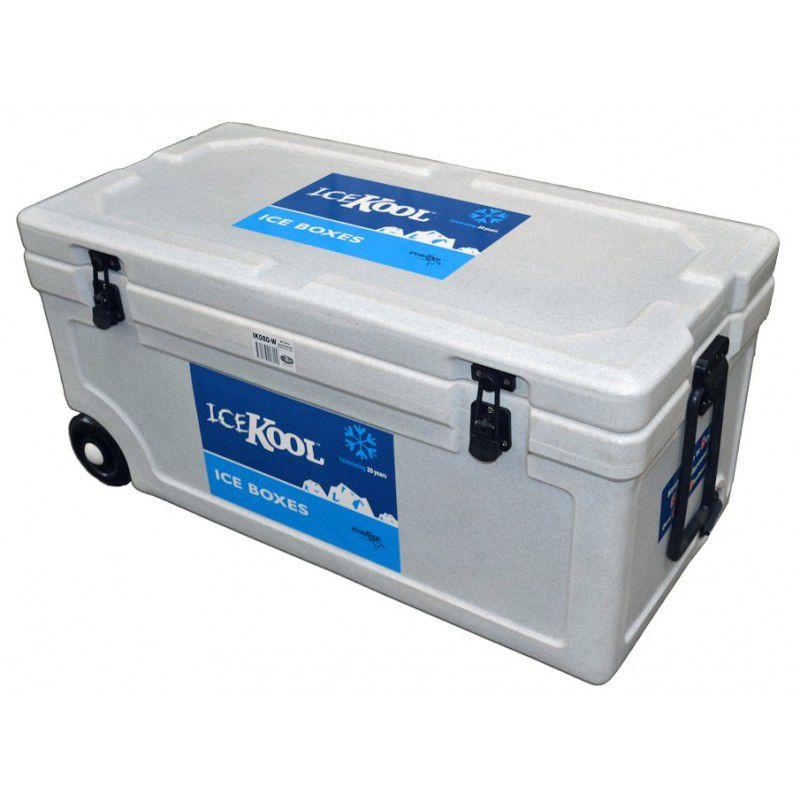 evakool icekool 80litre cooler box with wheels blue