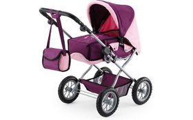 Bayer Combi Grande Doll's Pram - Purple/Pink