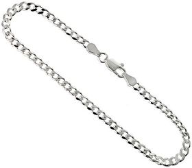 Miss Jewels - 925 Sterling Silver Extra Flat Curb 60cm Italian Import Necklace