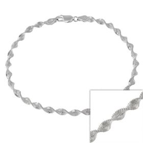 Miss Jewels - 925 Sterling Silver 55cm Magic Satin Twist Italian Imported Necklace