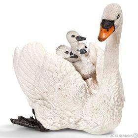 Schleich White Swan with Cygnets