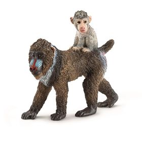 Schleich Mandrill, Female with Baby