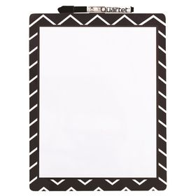 Quartet Magnetic Dry Erase Fashion Board - Chevron