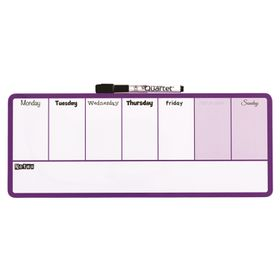 Quartet Magnetic Dry Erase Weekly Organiser - Purple