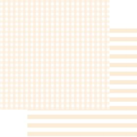 Lady Pattern Paper Basic Essentials Gingham - Antique White (10 Sheets)