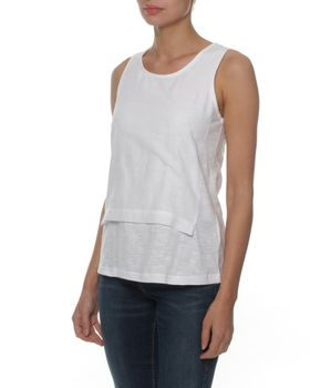 The Earth Collection Woven Layer Top - White