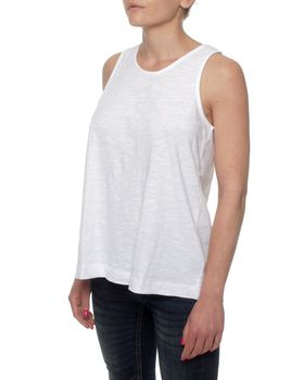 The Earth Collection Top With Zipper In Back - White Stripe