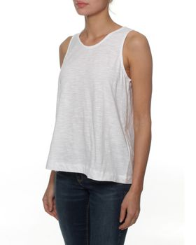 The Earth Collection Top With Zipper In Back - White