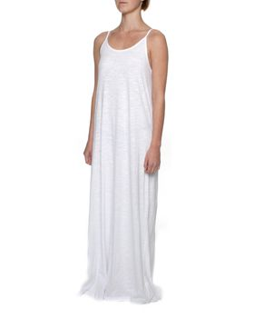 The Earth Collection Spaghetti Strap Long Dress - White