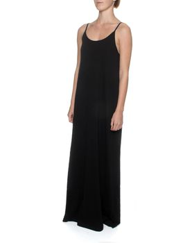 The Earth Collection Spaghetti Strap Long Dress - Black