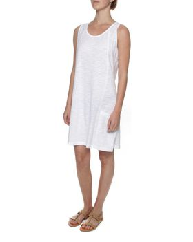 The Earth Collection Sleeveless Short Summer Dress - White
