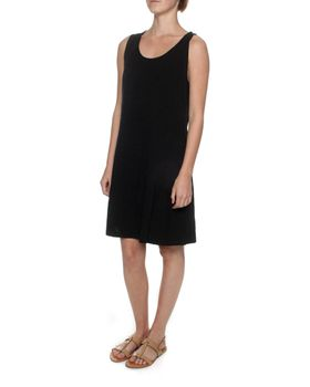 The Earth Collection Sleeveless Short Summer Dress - Black