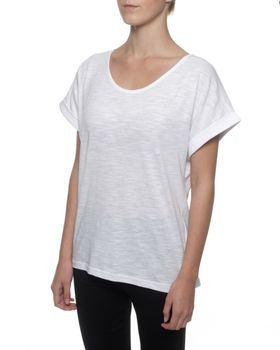 The Earth Collection Loop Top Short Sleeves - White