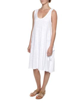 The Earth Collection Breezy Dress with Pockets - White