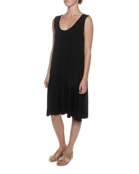 The Earth Collection Breezy Dress With Pockets - Black