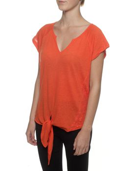 The Earth Collection Top With Tie Detail And Lace - Chorus