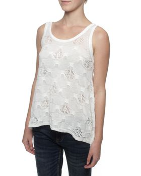 The Earth Collection Floaty Top - Off White