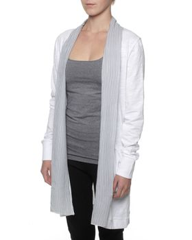 The Earth Collection Open Long Jacket - White