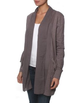 The Earth Collection Open Long Jacket - Twilight