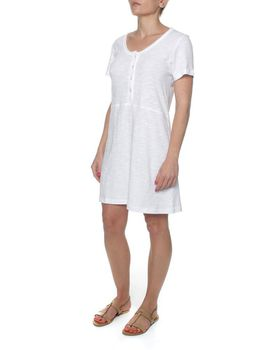The Earth Collection Tunic With Short Sleeves - White