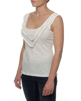 The Earth Collection Top With Necklace Detail - Cream