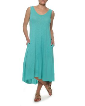 The Earth Collection Summer Wide Dress - Peacock