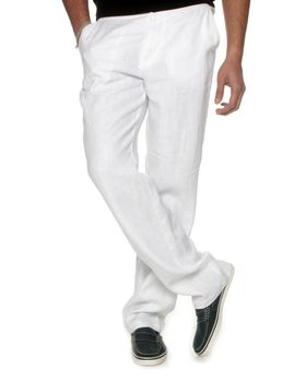 The Earth Collection Men's Long Lounge Pants - White