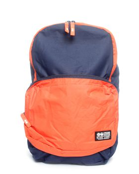 Crosshatch Soarano Backpack in Navy Blue & Orange