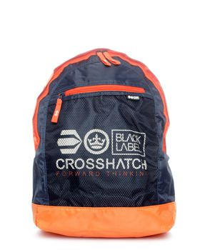 Crosshatch  Reticulum Backpack in Navy & Orange