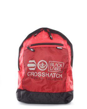 Crosshatch  Reticulum Backpack in Red & Black