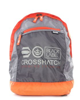 Crosshatch Reticulum Backpack Grey & Orange
