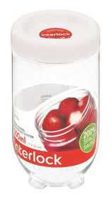 Lock and Lock - Interlock Round Clear With White Lid - 500ml