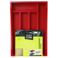 House of York Drawer Organiser - Berry Red