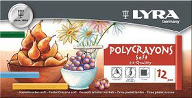Lyra Polycrayons Pastels - 12 Colours in Box