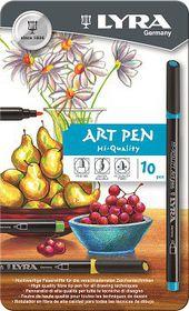 Lyra Art Pens - 10 Colours in Metal Box