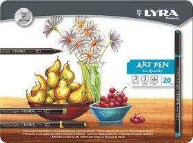Lyra Art Pens - 20 Colours in Metal Box