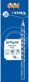 Lyra Groove 12 B Graphite Pencils