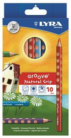 Lyra Groove Natural Grip 10 Colour Pencils